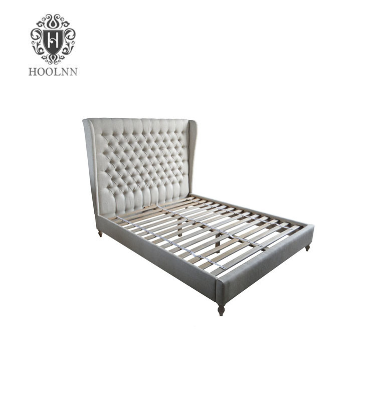 French style Antique Upholstered Wooden Bed HL006Q