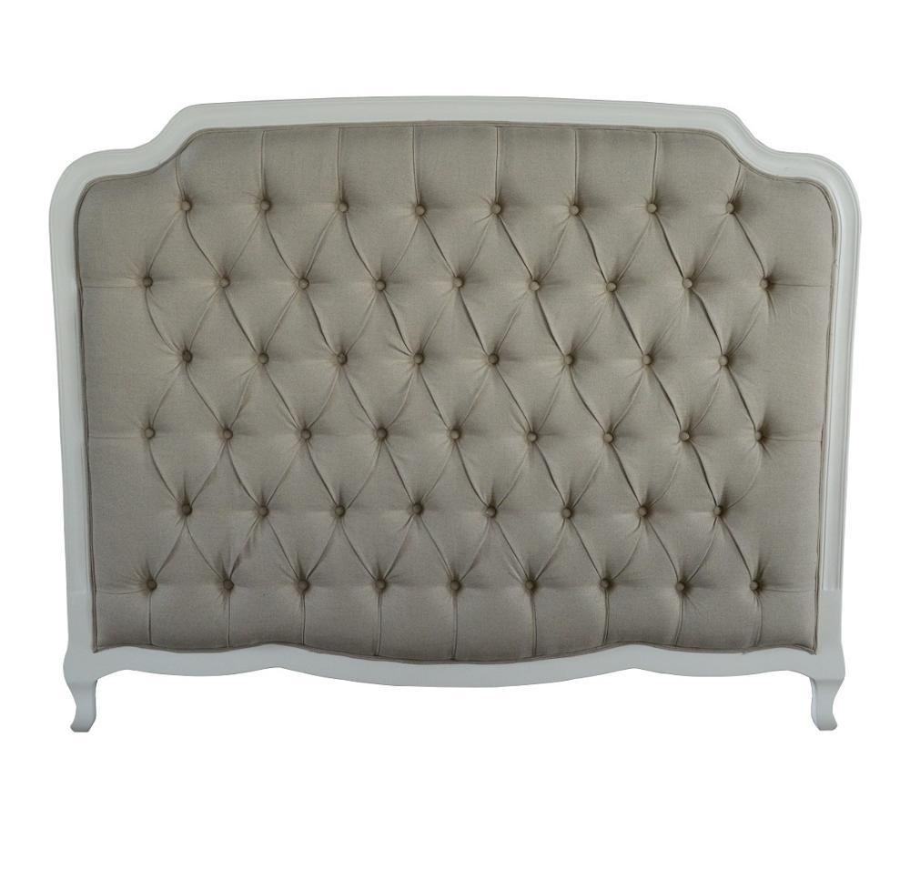 Antique French Style Luxurious Upholstered Wooden Bed Headboard HL159HBQ-F05