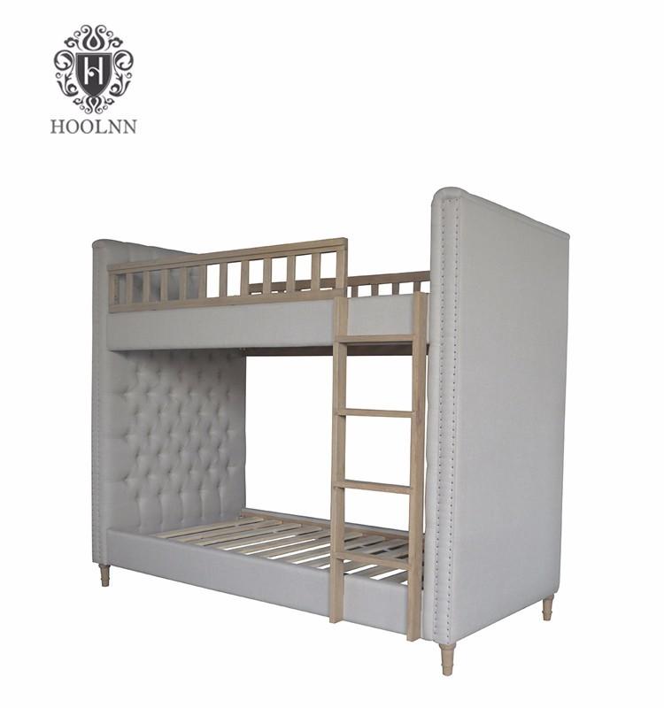 Antique Furniture French King Size Loft Solid Wood Bunk Bed for children hostels