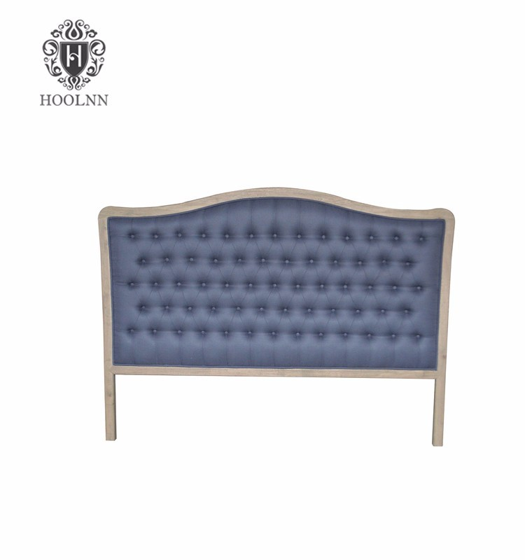 HL004K-F22 Made in China European French-style Antique King Size Fabric Twin Wood Upholstered Luxurious Headboard for Beds
