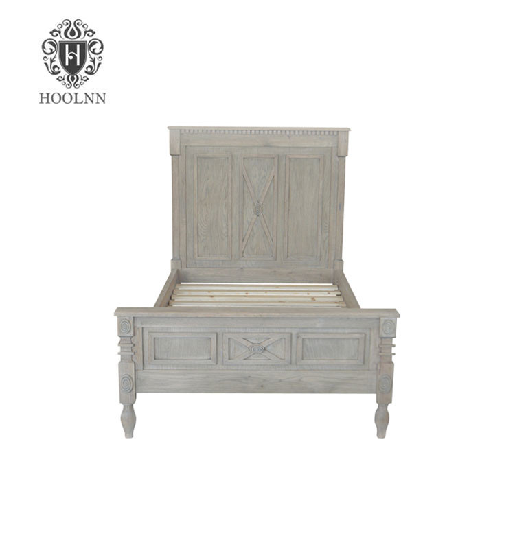 French style Antique Wooden Bed HL699-92