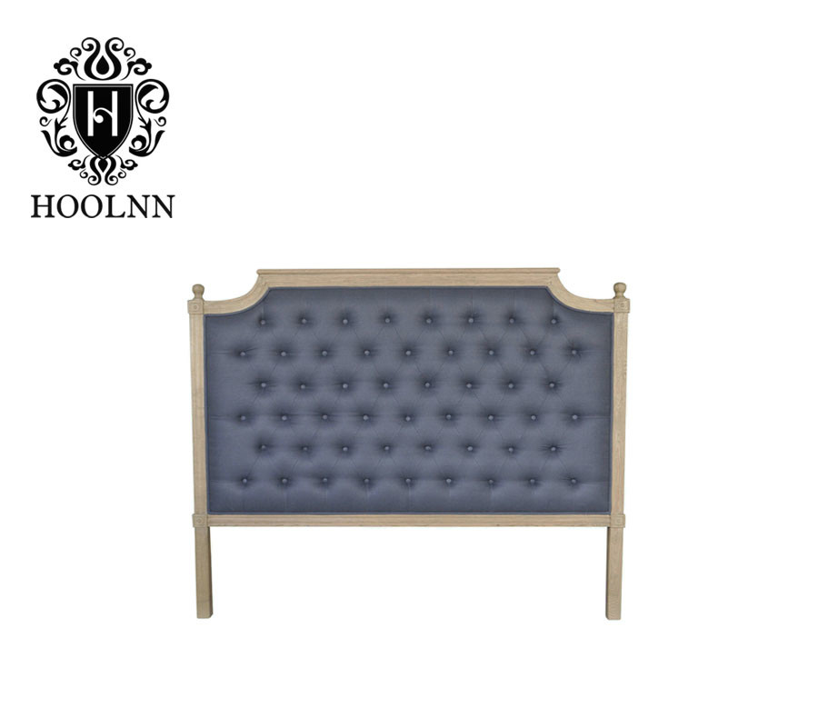 HL005Q-F22 French-style Antique Wooden Upholstered Luxurious Single Headboard