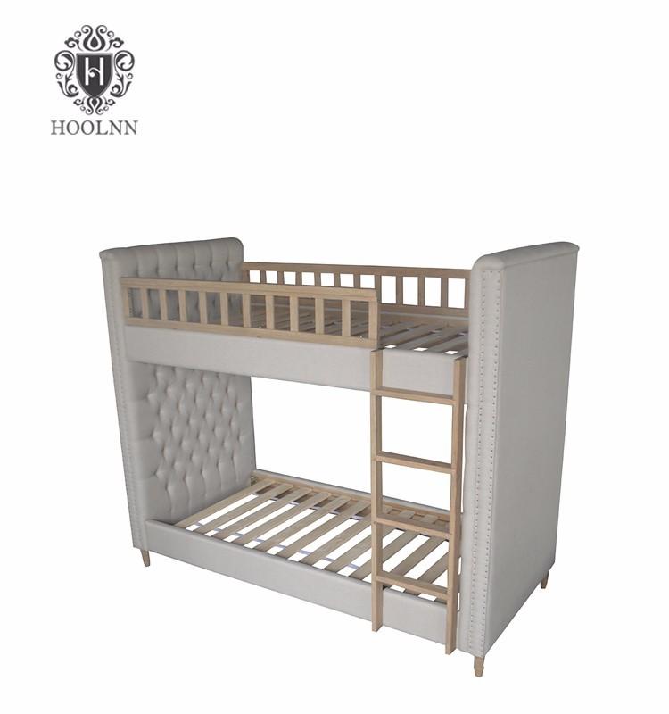 Antique Style Kids Double Deck Wooden Bunk Bed