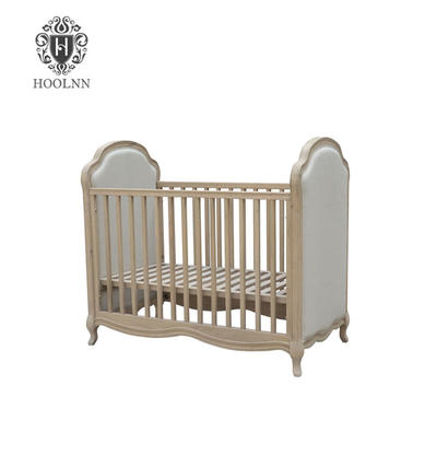 European Provincial Baby Room Furniture Wooden Baby Bed HL065-1-105