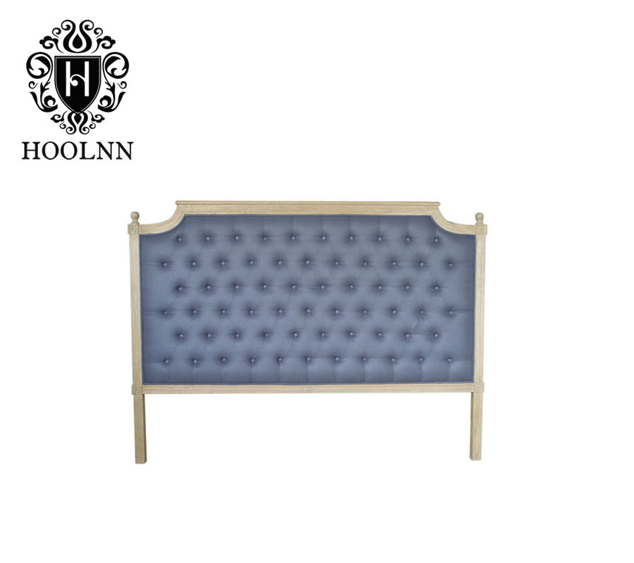 French-style Antique Wooden Upholstered Luxurious Headboard HL005K-F22