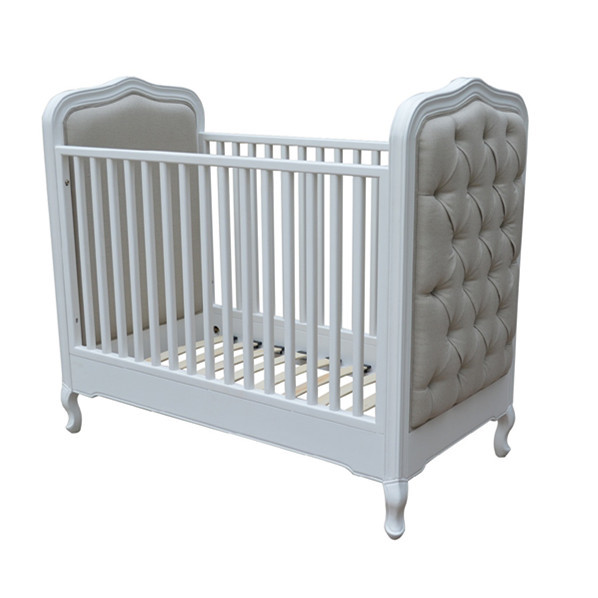 HL049 Royal Luxury Wooden Baby Crib/ Europe French Style Wooden Single Baby Cot Bed