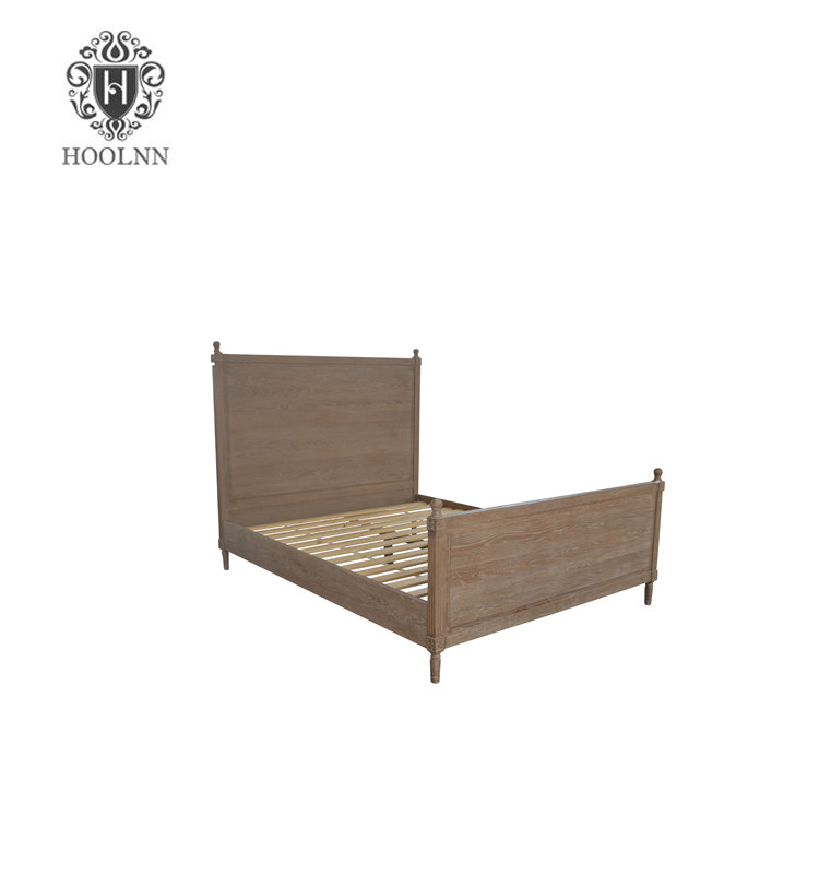Antique French-style Wooden Bed HL115-153