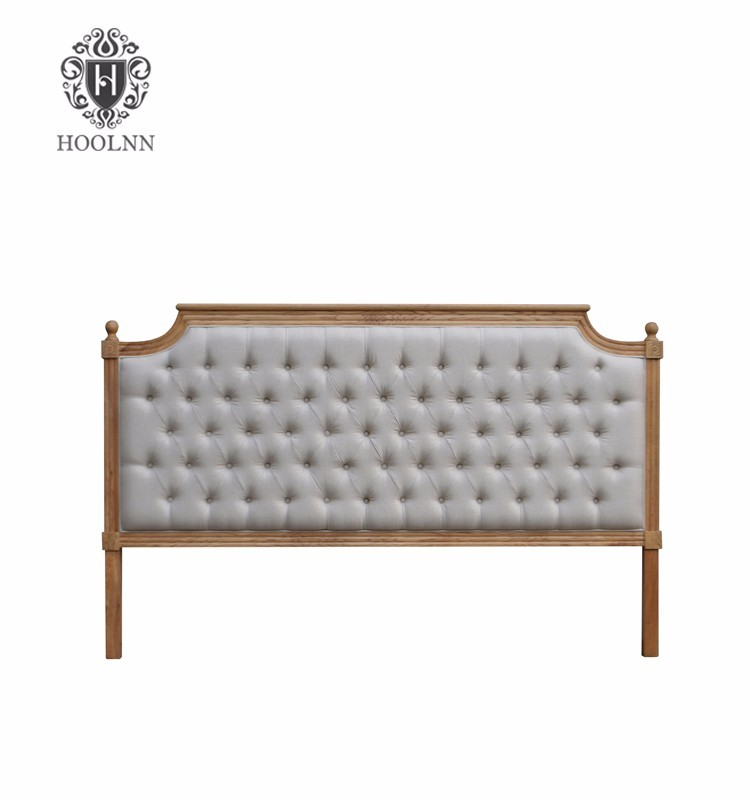 French-style Antique Wooden Upholstered Luxurious Headboard HL005K-F05