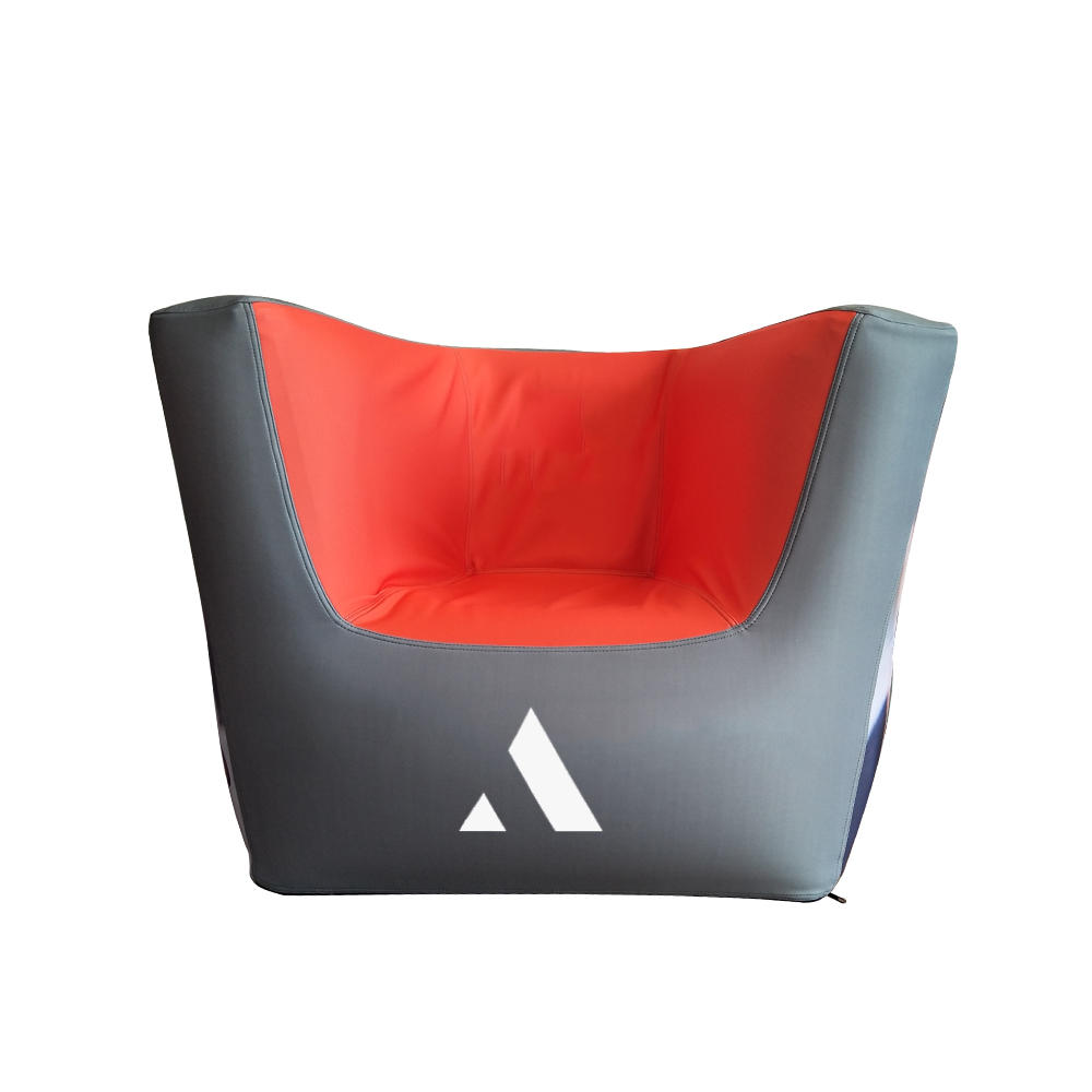 Advertising attraction single sofa and table inflatable outdoor furniture with Soft Neoprene material