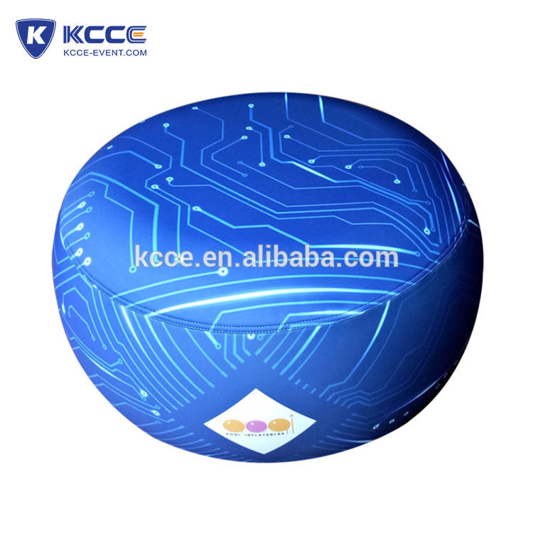 Kaicheng promotional air Inflatable display furniture outdoor cheap inflatable ottoman//air furniture