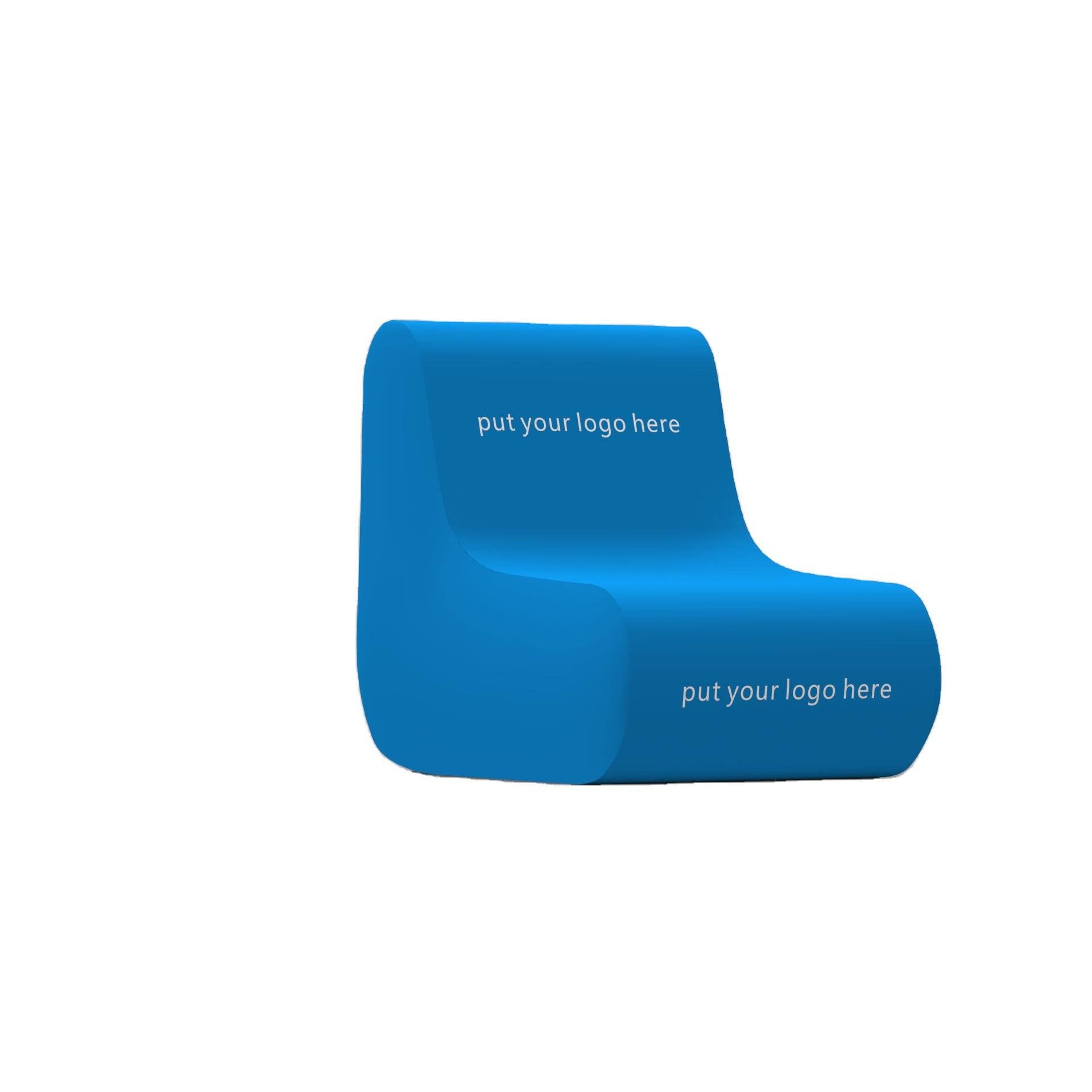 Inflatable air chair with PVC or TPU frame LED light