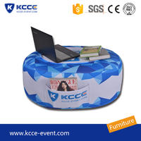 Outdoor advertising display table event stool inflatable desk with durable material