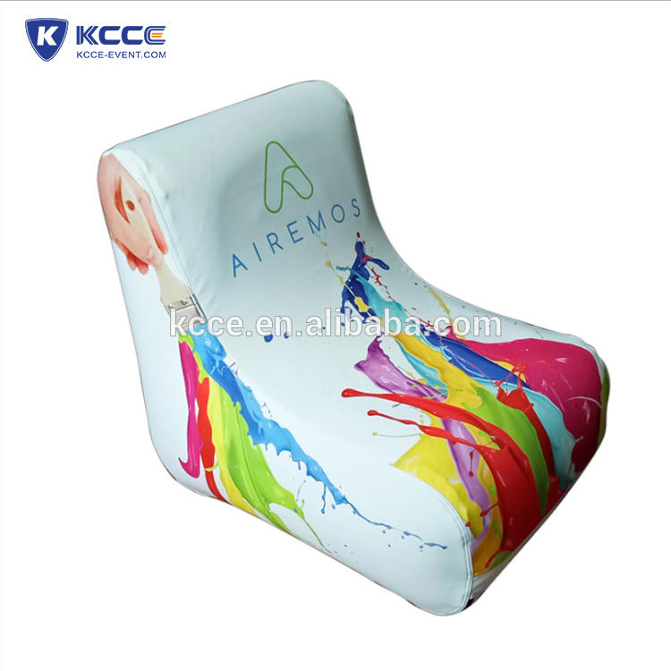 PVC tarpaulin Inflatable camping chair, inflatable trade show furniture