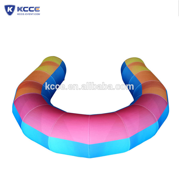 New arrival Eye catching confortable outdoor portability single inflatable sofa//