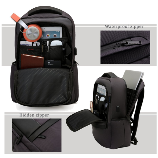 product-Osgoodway 156 In Slim Light-Weight Anti Theft Business Laptop Backpack with USB Port and Ear-1