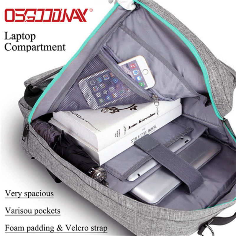 product-Osgoodway-Osgoodway Multi-function Lightweight Fashionable 17 Inches Nylon Travel Laptop Bac