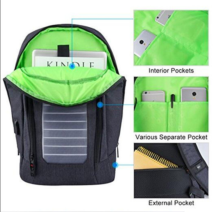 product-Osgoodway New Products Water Resistant Anti-Theft Solar Panel backpack with USB Charging Por-1
