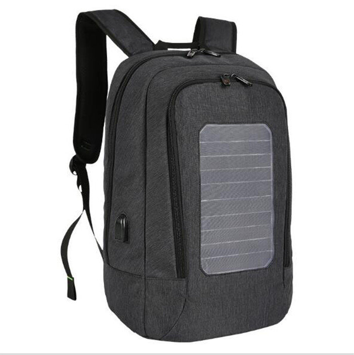 Osgoodway New Products Water Resistant Anti-Theft Solar Panel backpack with USB Charging Port or Laptop compartment