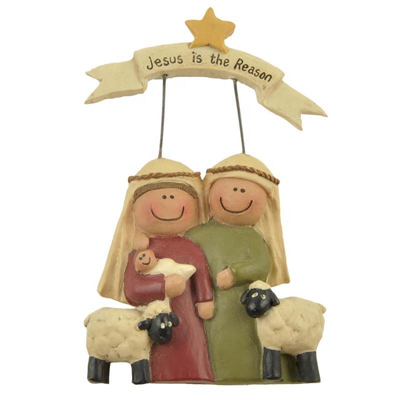 Factory Handmade Jesus family statues Christmas nativity figurines