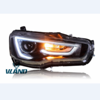 VLAND factory accessories for Car Headlight for LANCER LED Head light for 2008-2018 with moving turn signal+LED DRL
