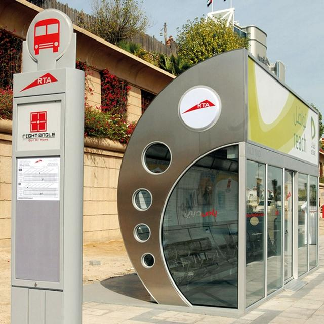 Customized Air Conditioner Bus Stop Shelter Station For Sale