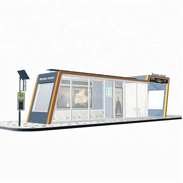Attractive Design Smart Urban Modern AC Bus Shelter for Sale