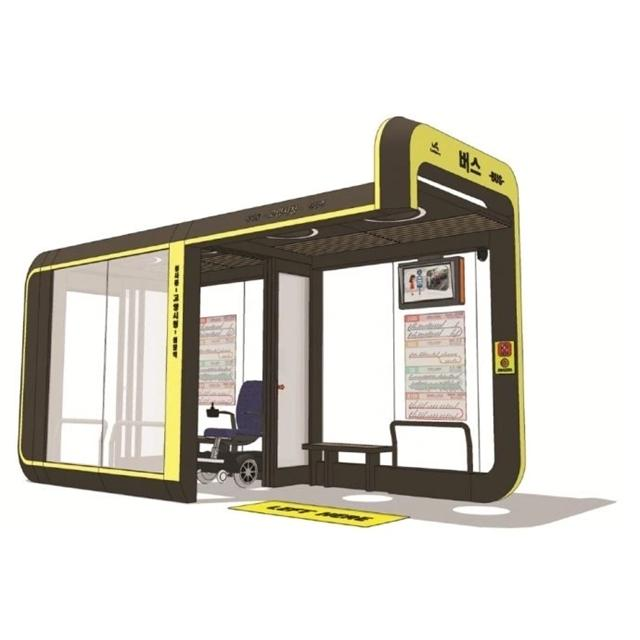 OEM Street Air Conditioned Advertising Bus Stop Shelter