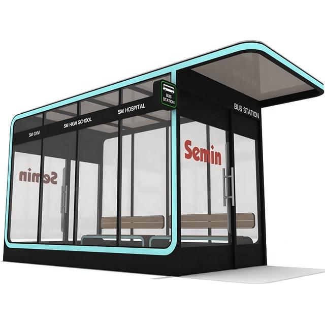Outdoor Advertising Air Conditioning Bus Shelter Stop