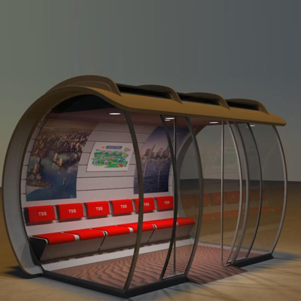 Design Creative modern Air conditioning smart advertising bus shelter stop