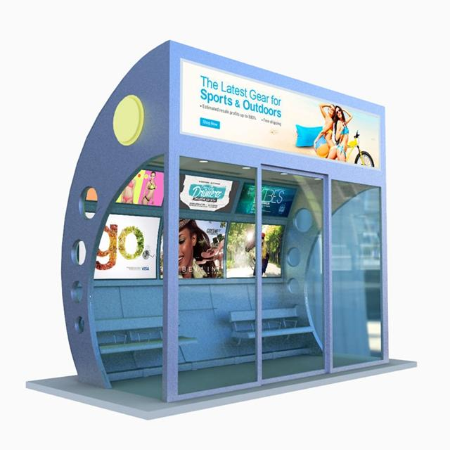 New Design Smart Air Conditioner Bus Shelter Bus Stop