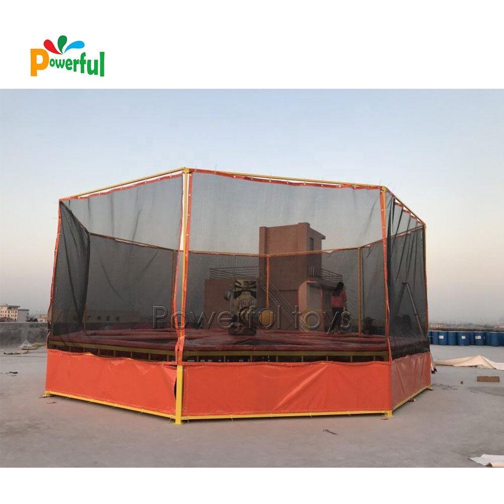 Trampoline park inflatable last man meltdown game for sale