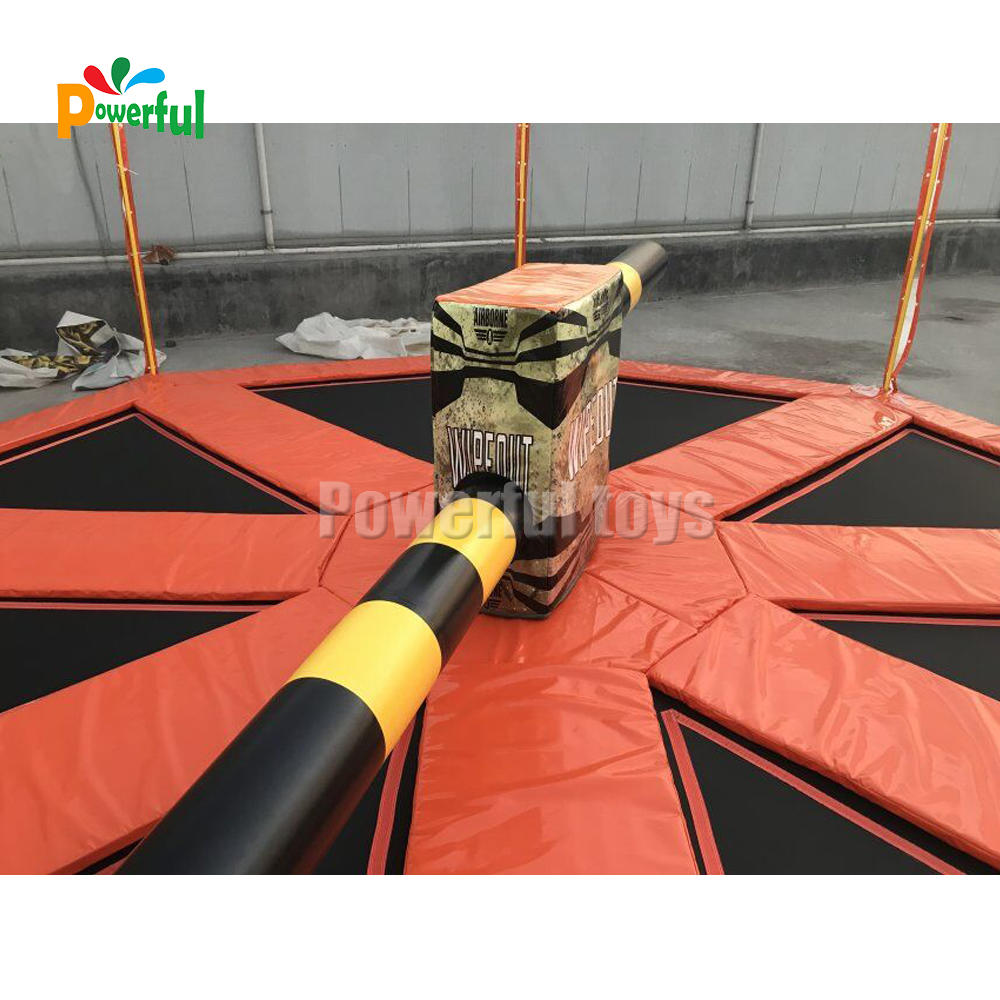 wipeout inflatable sweeper,wipeout trampoline ,wipeout eliminator game for trampoline park