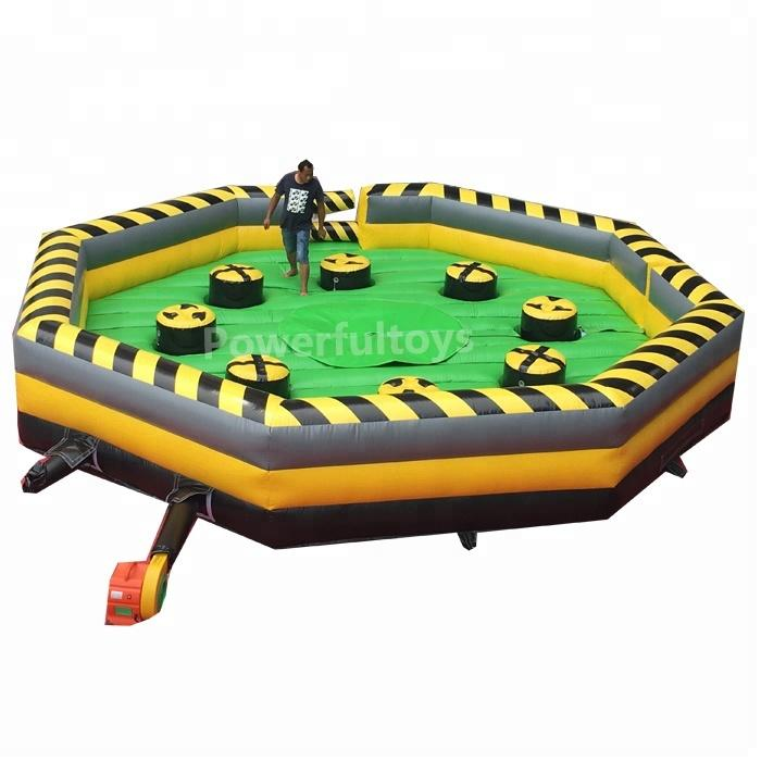 8 person meltdown challenge Inflatable wipeout games inflatable total wipeout