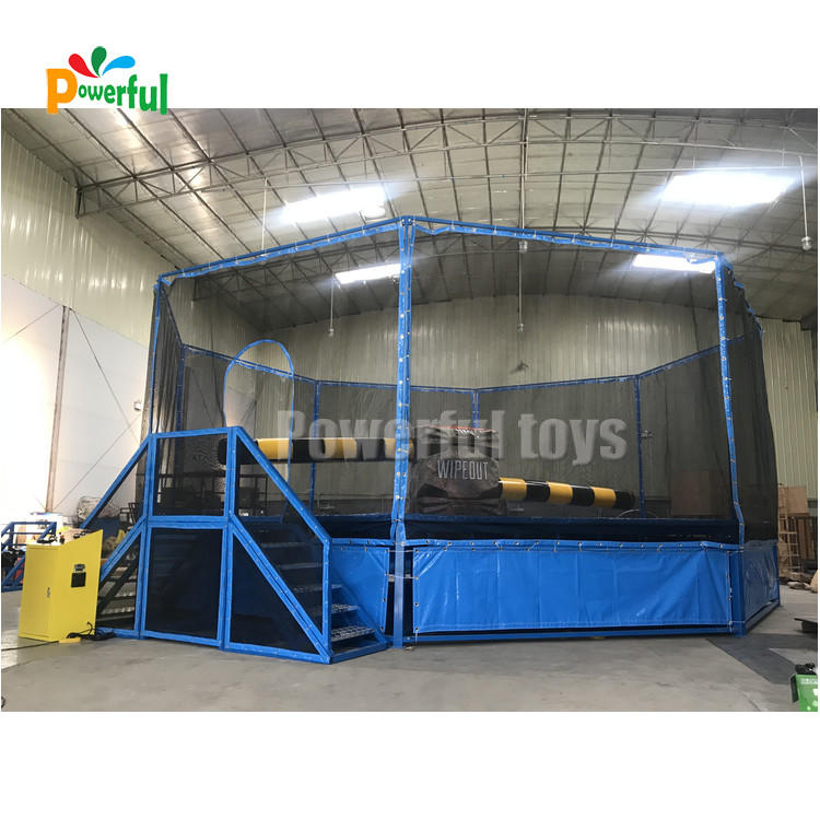 Trampoline park inflatable wipeout inflatable wipeout course for sale