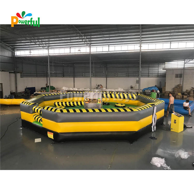 Trampoline park for wipeout inflatable obstacle course/wipeout inflatable sweeper