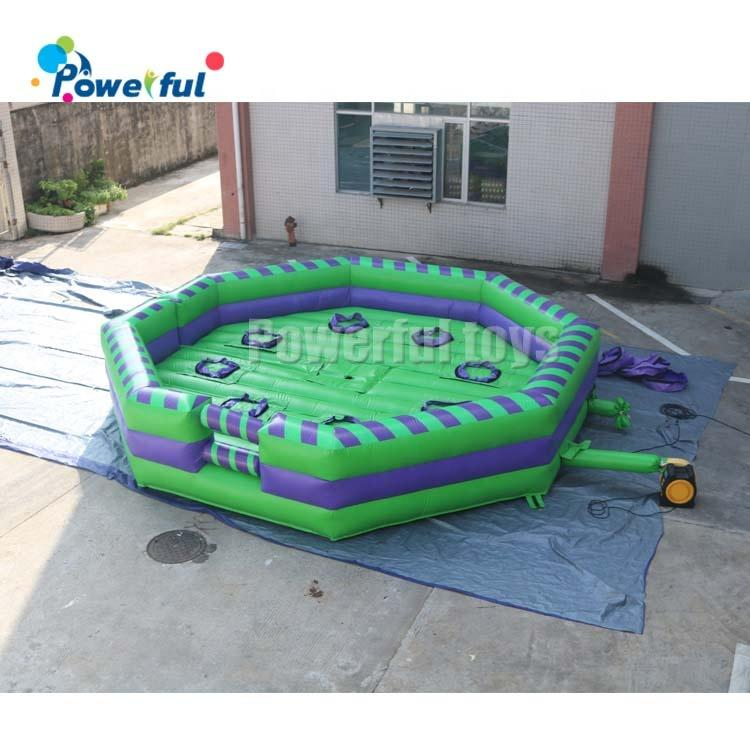 6m inflatable toxic meltdown wipeout 8 persons inflatable sweeper meltdown outdoor