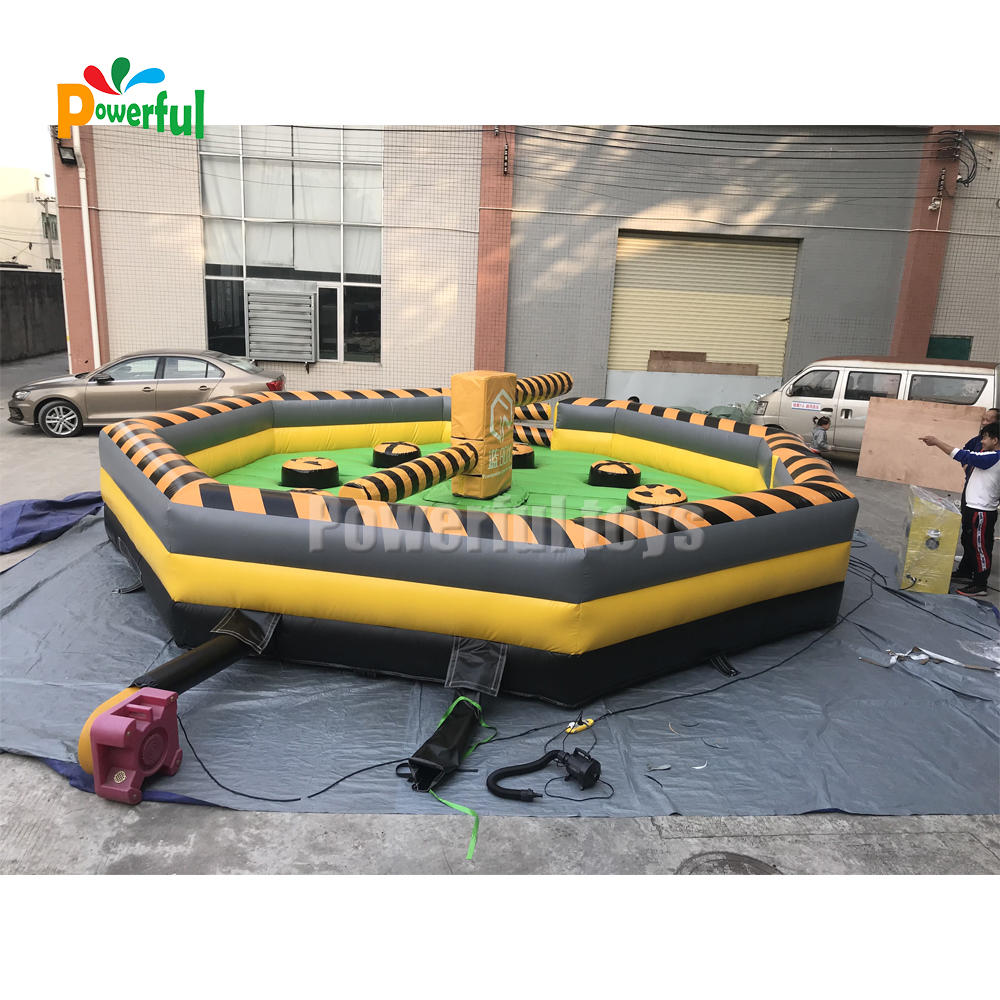 wipeout inflatable hire,toxic meltdown,eliminator inflatable meltdown wipeout price