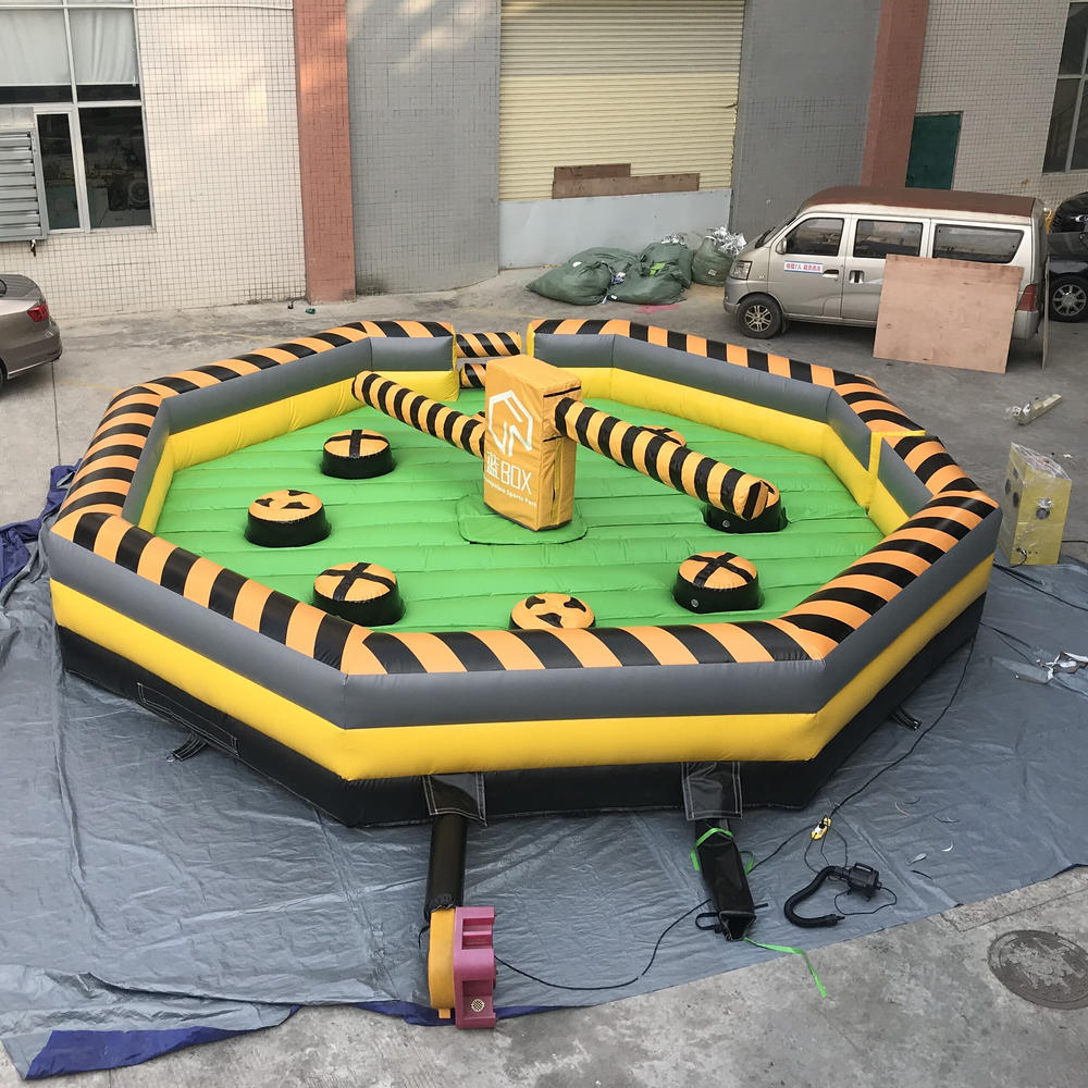 Inflatable mechanical meltdown challenge sweeper wipeout machine game for sales