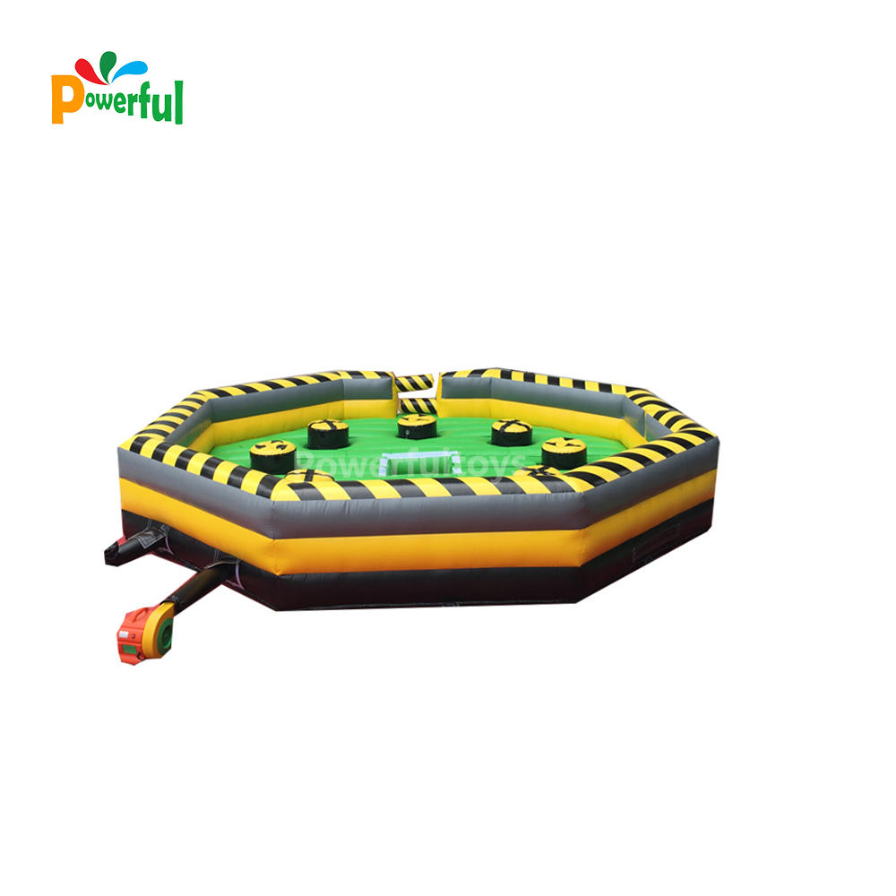 Inflatable wipeout game with mechanical, funny inflatable game for adult N kids