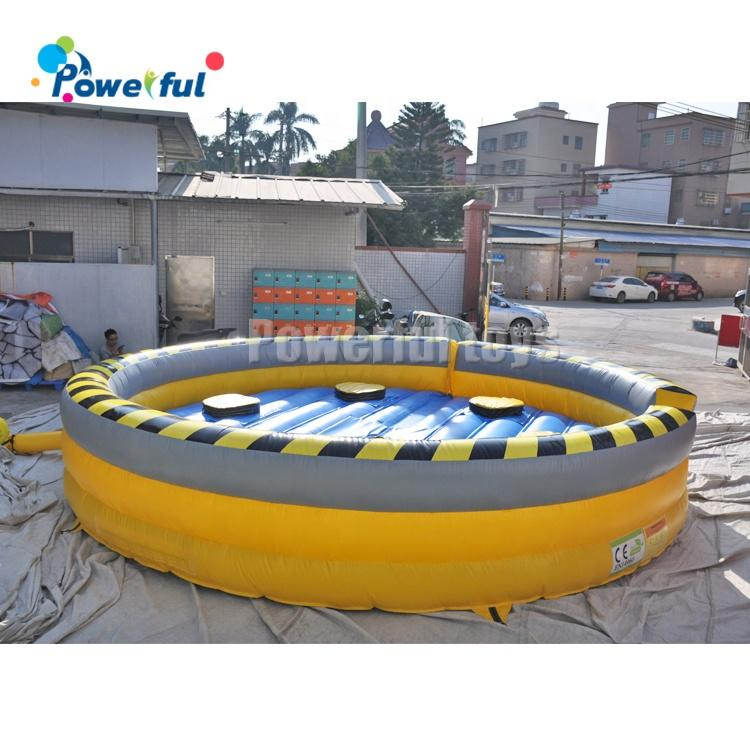 Inflatable wipe out trampoline 7m diameter trampoline park game