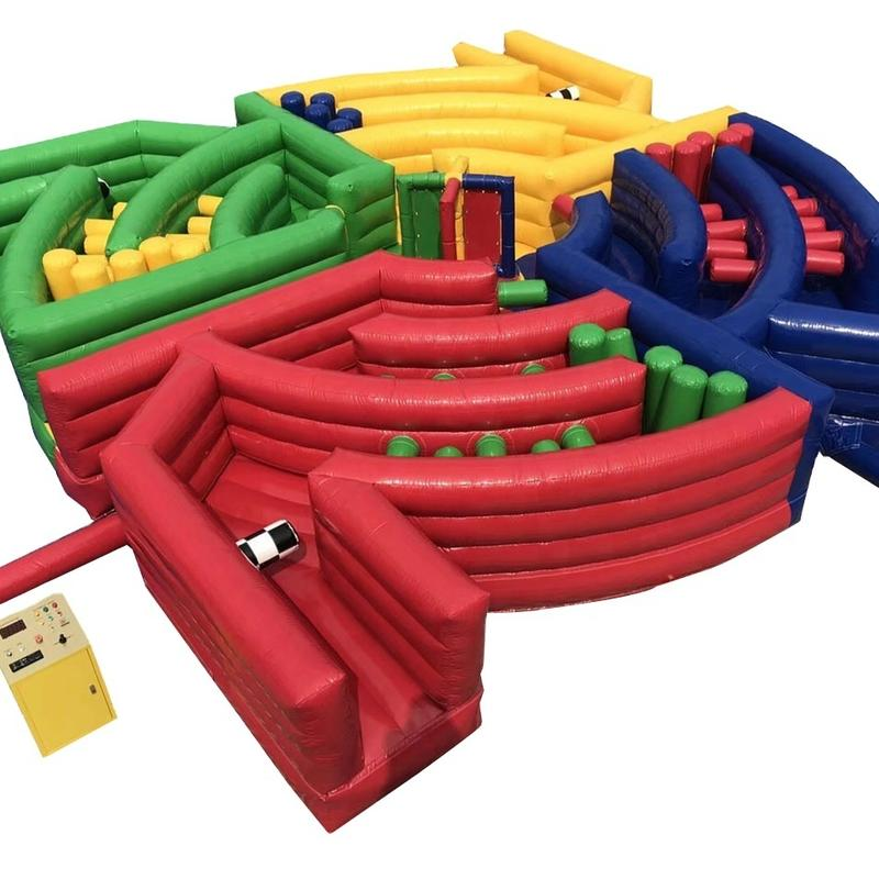 Inflatable wipeout obstacle course game , inflatable meltdown game ,Electro-mechanical game