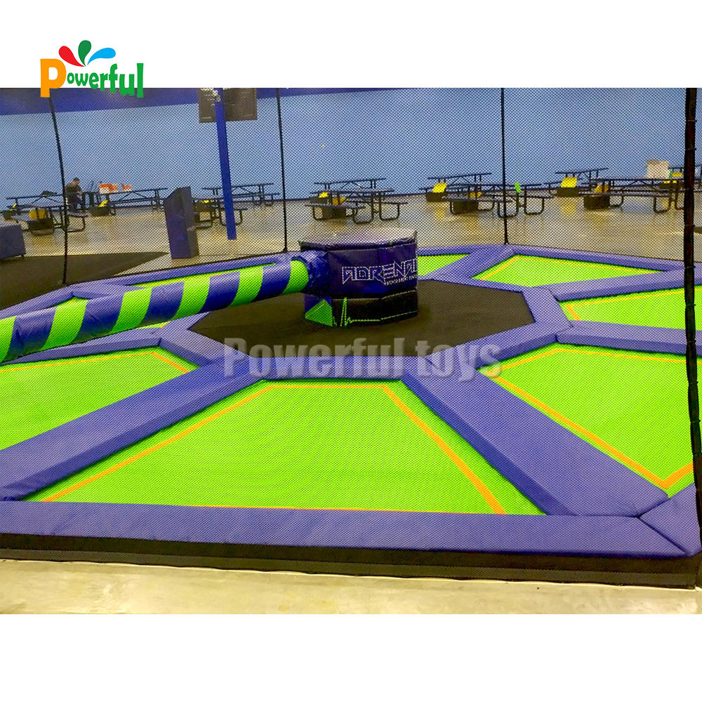 Inflatable trampoline park dodge interactive wipeout sport games