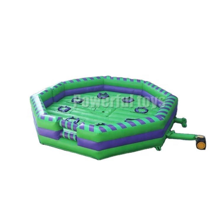 6m diameter trampoline park Inflatable meltdown wipeout eliminator games
