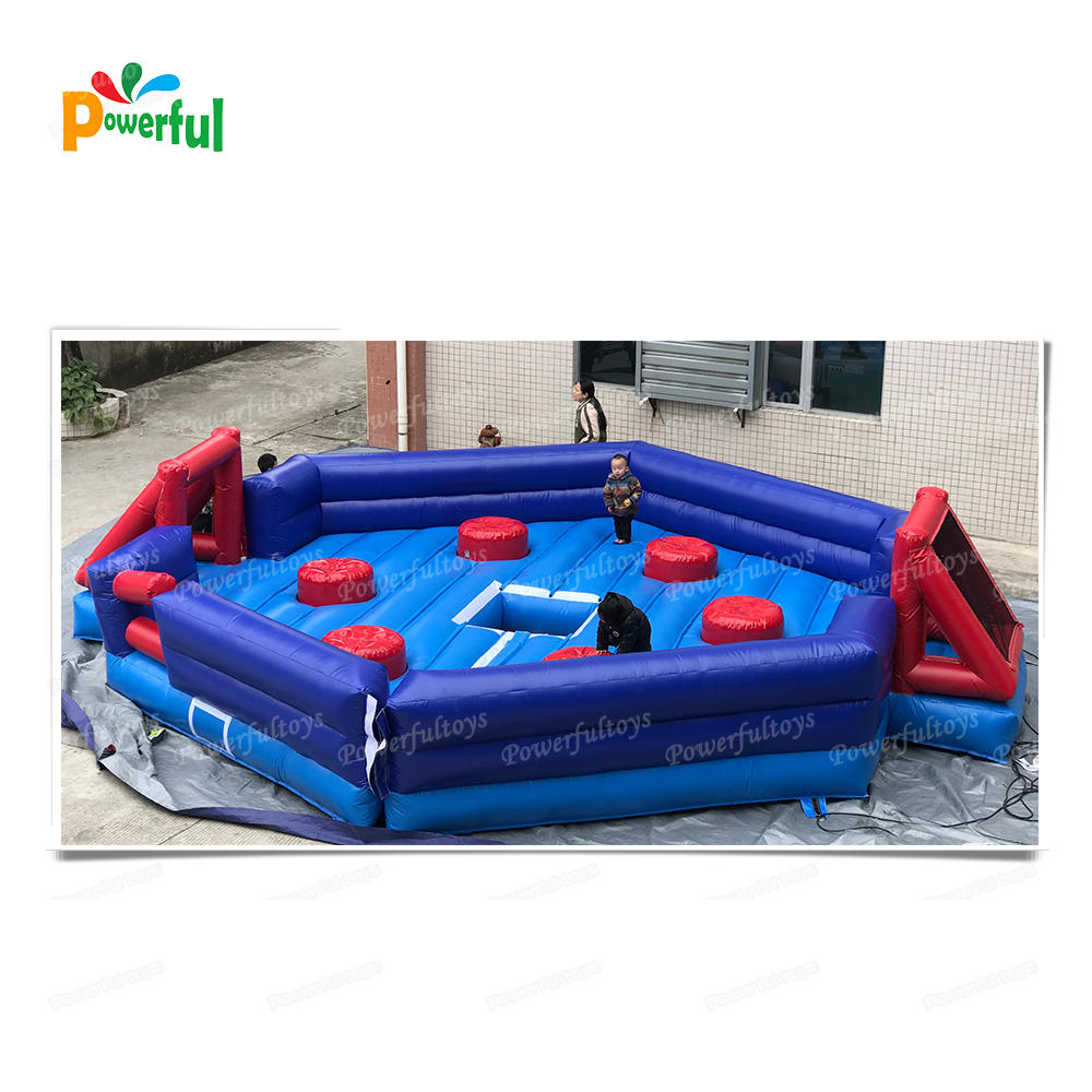 trampoline park equipment adult inflatable rotating machine wipeout obstacle course