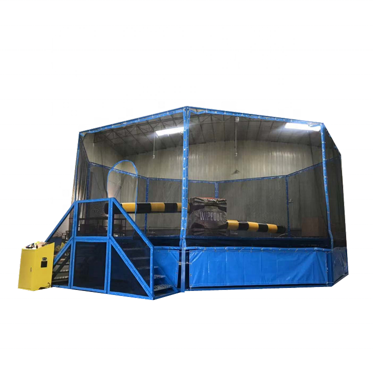 Hight quality indoor trampoline parkwipeout electronicamusement park games equipment