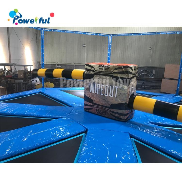 Indoor 8 players trampoline park bounce wipeout last man standing challenge