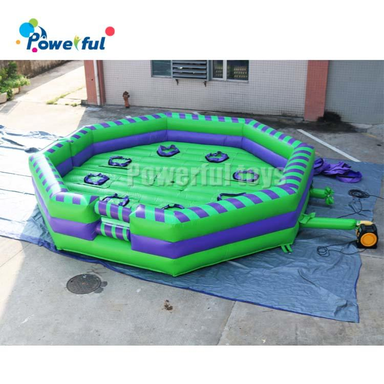 6m dia inflatable wipeout obstacle Course,inflatable Wipeout jump ,inflatable Meltdown Eliminator Sweeper