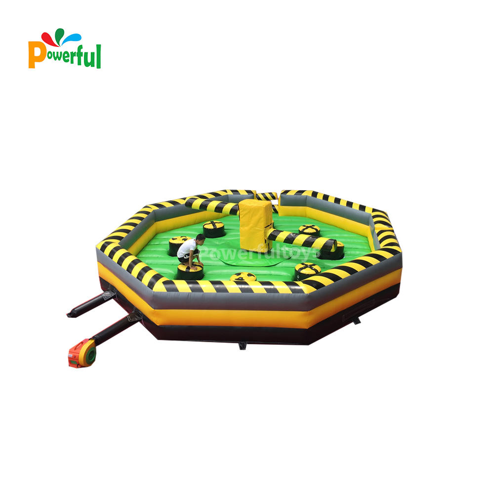 Trampoline park game inflatable wipeout sweeper inflatable wipeout eliminator game for sale