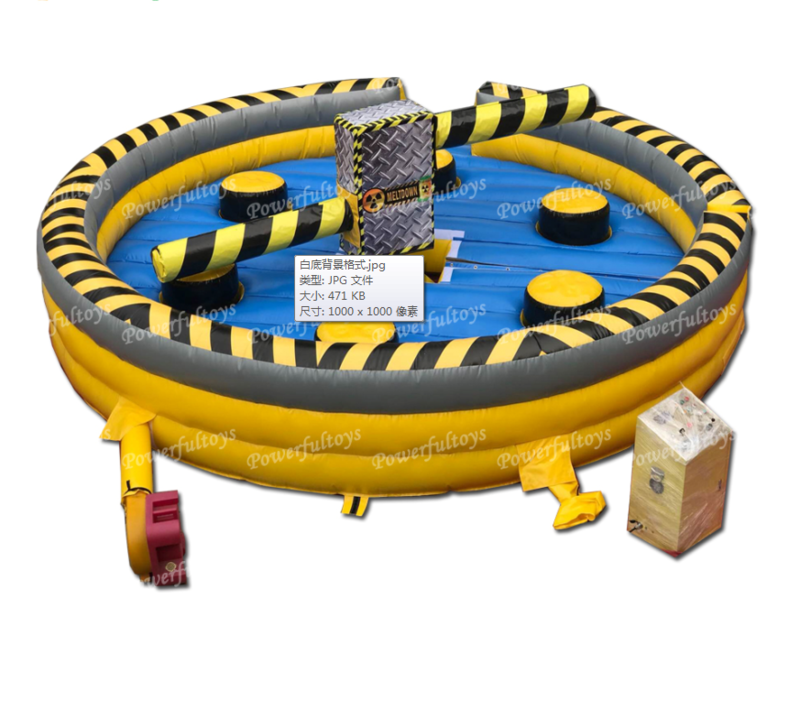 Dia 6m high quality outdoor Inflatable meltdown game Inflatable wipout game for sale