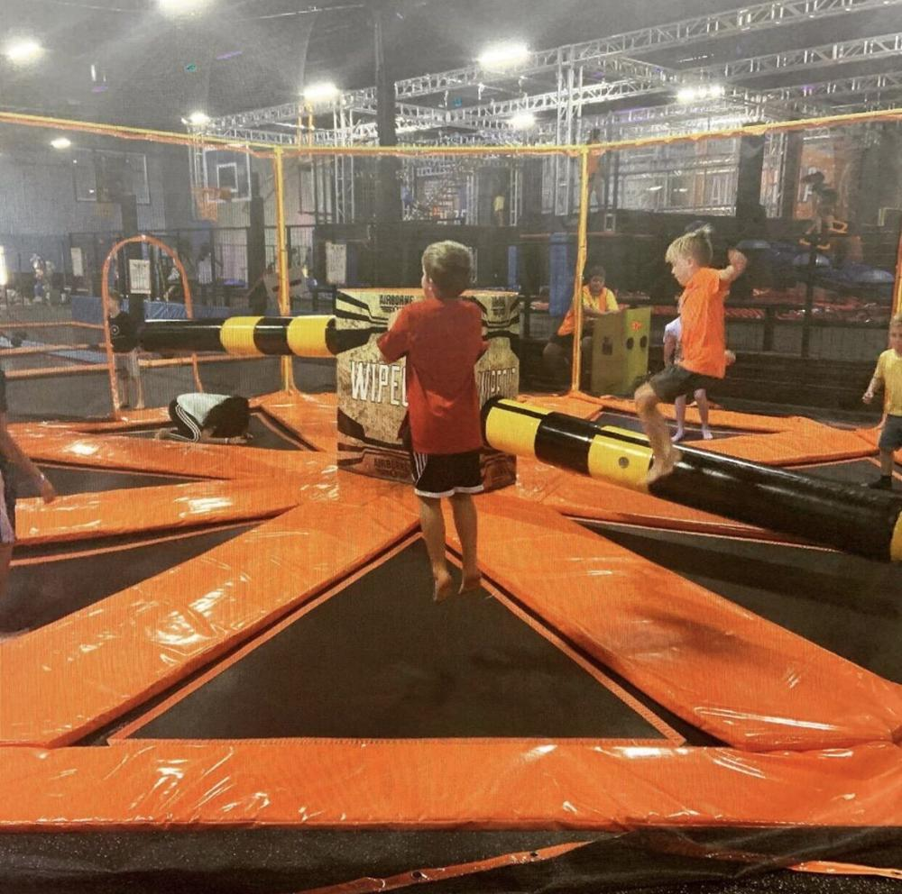 The Action last man standing trampoline Meltdown Wipeout Sweeper Games for Trampoline Parks